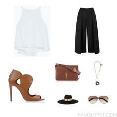 Style Stuff With Zara Top Black Slip Aquazzura Sandals And Leather Shoulder Bag From July 2015