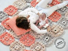 BIG scale handmade crochet rug ENTRE collection  por ENTREDESIGN
