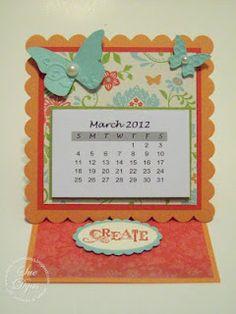 Easel calendar card
