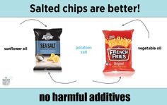 It's a chip, it's a chip, it's a chip chip chip. Only 3 ingredients, and no harmful additives. www.thetrustedtrolley.com.au