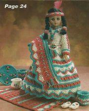 Indian Princess Crochet Doll Patterns   Crochet Pattern ~ INDIAN MAIDEN DOLL ~ Instructions