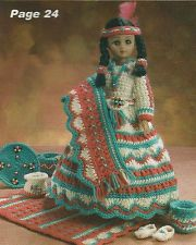 Indian Princess Crochet Doll Patterns | Crochet Pattern ~ INDIAN MAIDEN DOLL ~ Instructions