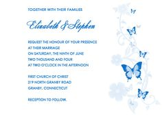 Butterfly Free Wedding Invitation http://printableinvitationkits.com/butterfly-free-wedding-invitation/