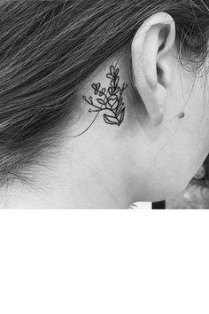 Le bouquet sauvage derrière l'oreille
