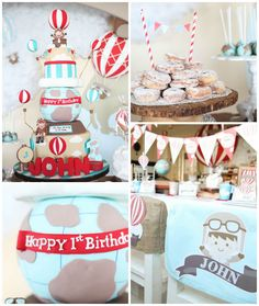 Rustic Hot Air Balloon Birthday Party via Kara's Party Ideas KarasPartyIdeas.com (2)