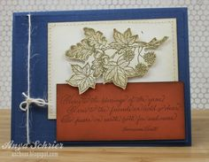 Anya - Life is What You Make It: Serendipity Stamps Using Acorns and Sweetgum and Here's to the Blessings