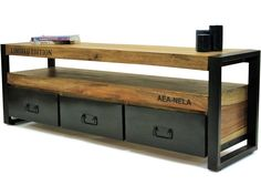 Tv Cabinet in a Trendy Industrial Design