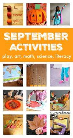 September activity plans :: things to do in September with kids September activity plans :: fall crafts and activities :: things to do with kids in September :: seasonal activity calendar :: fall homeschool plans September Crafts, September Themes, September Activities, Autumn Activities For Kids, Fall Preschool, Learning Activities, Preschool Activities, September Preschool, Preschool Learning