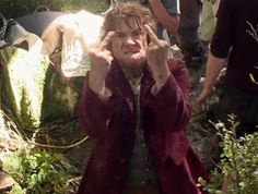 Bilbo with a Bad Attitude: How he really feels about leaving home for an unpleasant adventure with a bunch of stinking dwarves.