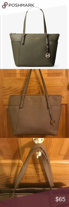 Michael Kors Jet Set Large Tote Taupe large tote with side pockets Michael Kors Bags Totes