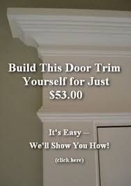Image result for interesting molding above windows 8' ceiling #TrimWoodworkIdeas