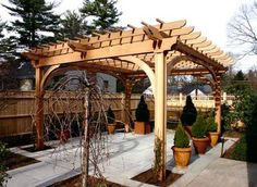Wooden Asian Pergola : Asian Pergola , Landscaping And Outdoor Building