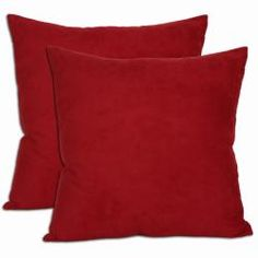 18-inch Red Microsuede Throw Pillows (Set of Two)   Overstock.com Shopping - Great Deals on Throw Pillows