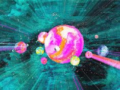gif art trippy drugs lsd acid psychedelic space universe planet surreal Abstract