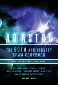SFWA.org/*** ~SCIENCE FICTION WRITERS OF AMERICA~ The 50th Anniversary SFWA Cookbook features dishes as creative andvaried in taste as the authors who shared them. (Please do not eatactual authors.) From Alien Scones to At the Fruitcake of Madness,DOOM Cookies, Falling Cloud Cake, and Miss Murder's Black ForestTrifle