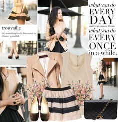 """""""nude + black"""" by shinystar on Polyvore"""