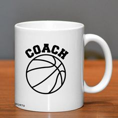 Basketball Coach Ceramic Mug - Got a basketball coach who likes coffee (or tea)?  Give them this mug so they can remind the world who's boss while enjoying their favorite caffeinated beverage.