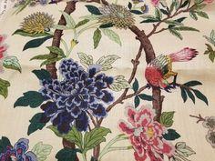 Lee Jofa G P & J Baker Hydrangea Bird Rose Biscuit Custom | Etsy Custom Pillows, Decorative Pillows, Crochet Waffle Stitch, Biscuit Color, Lee Jofa, Briar Rose, Fabulous Fabrics, Fabric Samples, Metal Signs