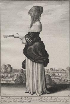 The Seasons: Summer, Wenceslaus Hollar (Bohemian, etching, . Lewis B. Fine Art Prints, Framed Prints, Poster Prints, Canvas Prints, Illustrations, Heritage Image, 17th Century, Printmaking, Gifts In A Mug