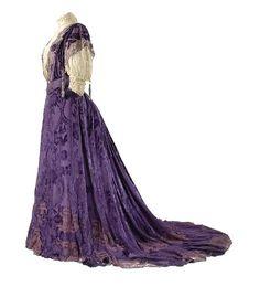 House of Worth, Voided-Velvet Purple Gown, Paris, 1896.