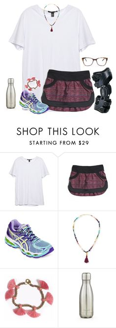 """Grocery shopping for the first day of school!!"" by ava-lindsey ❤ liked on Polyvore featuring lululemon, Asics, Dina Mackney, Bohemia, S'well and Prism"