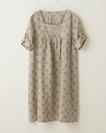 pindot/ホームクチュール/ワンピースそのまま着ても、重ねて着ても Japanese Sewing Patterns, Short Sleeve Dresses, Dresses With Sleeves, Shirt Dress, Couture, Shirts, Shopping, Fashion, Moda
