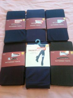 Lot of 6 Pairs of Women's Merona Tights size S/M #Merona #Tights