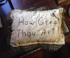 pillow #Stitchery