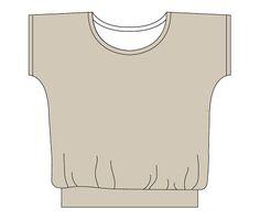 Petit tee shirt tout simple ! Patron gratuit ! Retrouvez toutes les fournitures pour vos créations sur www.la-petite-epicerie