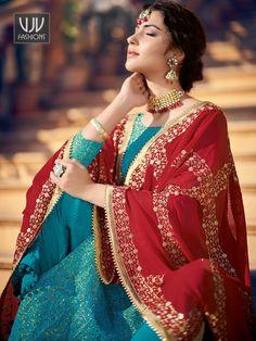 Buy Blue Jacquard Suit, Designer Palazzo Suit - VJV Fashions Bright Blue Suit, Palazzo Suit, Indian Salwar Kameez, Anarkali Dress, Wedding Wear, Party Wear, Light Blue, Suits, Stylish