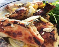 Pollo a la leche en horno de barro