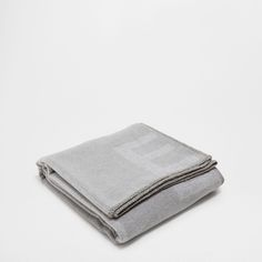 JACQUARD LETTERS WOOL THROW - Throws - Bedroom | Zara Home United States of America