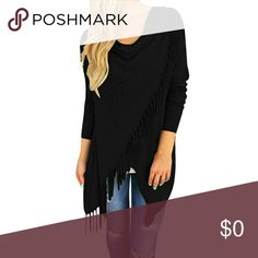 🆕 1(S) 1(M)❤Long Sleeve Black Knitted Cardigan❤ New And High Quality. Simple Yet Gorgeous Black Cardigan Sweater With Tassels. Super Comfortable!Pair This With The New Sweater Dress In My Closet To Complete Your Look!  Made Of Cotton, Polyester And Spandex. Has A Single Button For Closure.  I Will Have One Small That Fits  Up To A Size 6, And One Medium That Fits Up To A Size 10. Thank you! Fast Shipping!! *Price Firm* Boutique  Sweaters Cardigans