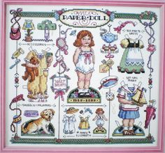Sandy-Orton-My-Old-Fashioned-Paper-Doll-Counted-Cross-Stitch-Pattern