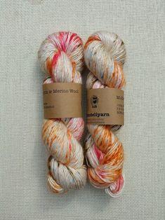 Silk and Merino hand dyed DK weight yarn - koi carp colours Koi Carp, Dk Weight Yarn, Mulberry Silk, Hand Dyed Yarn, Merino Wool, Blue Grey, Salmon, Colours, How To Make
