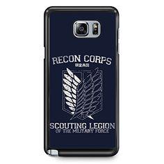 GEBLEG-Attack On Titan Recon Corps Samsung Galaxy Note 5 Cases Hard Plastic Material with Black Frame Gebleg http://www.amazon.com/dp/B0187DNY36/ref=cm_sw_r_pi_dp_1Koywb1BTW900