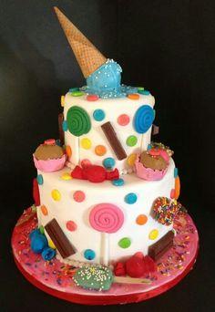 fun cake Sweet Cakes, Cake Creations, Amazing Cakes, Ale, Birthday Cake, Cookies, Desserts, Food, Crack Crackers