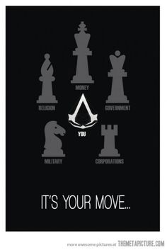 Assassin's Chess. Posted on themetapicture.com.