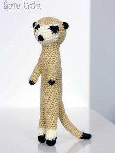 Meerkat crochet amigurumi doll plush by BramaCrochet on Etsy