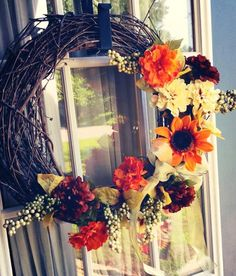 Wreaths grapevine hand decorated by LovelyLifeCreations on Etsy