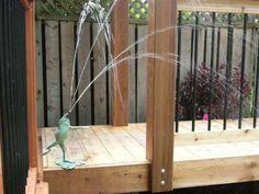 #Bronze #sculpture by #sculptor Brett Davis titled: 'Dancing Frog (Bronze Fountain large sculpture)'. #BrettDavis