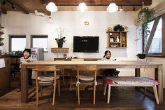 ダイニングテーブル by HACHI KAGU Office Desk, Conference Room, Dining Room, Kitchen, Table, House, Furniture, Japan, Design