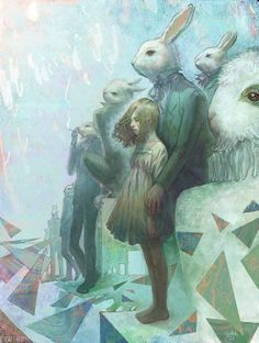 rabbit hole, yukorabbit, rabbits, wonderland, art, alic, bunni, illustr, yuko rabbit