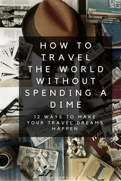 Travel the world without going broke. This is the first blog I've seen to have some decent ideas.  Know someone looking to hire top tech talent and want to have your travel paid for? Contact me, carlos@recruitingforgood.com