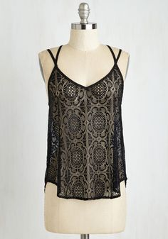 Art Fest Frolicking Top. Sport this fun and flirty tank as your flit from stall to stall at this summers arts festival! #black #modcloth