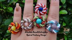 Spiral Galaxy Beaded Ring Tutorial (definitely trying this one)