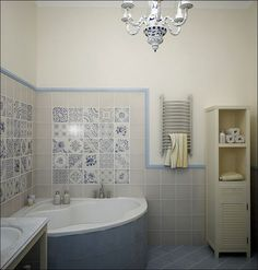 Love the tile, but it might be too much my small bathroom