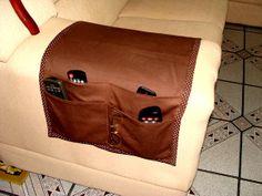 Porta Controle Remoto para Sofá - Marrom   Lu Arte em Tecidos   1CAB4D - Elo7 58,00