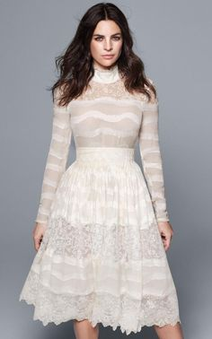 Julia Restoin Roitfeld models Victoriana top, and skirt,