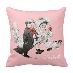Funny Valentine Vintage Wedding Pillow